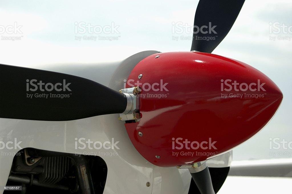 Propellor Plane stock photo