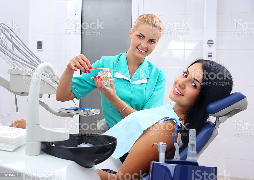 Proper cleaning of the teeth. royalty-free stock photo