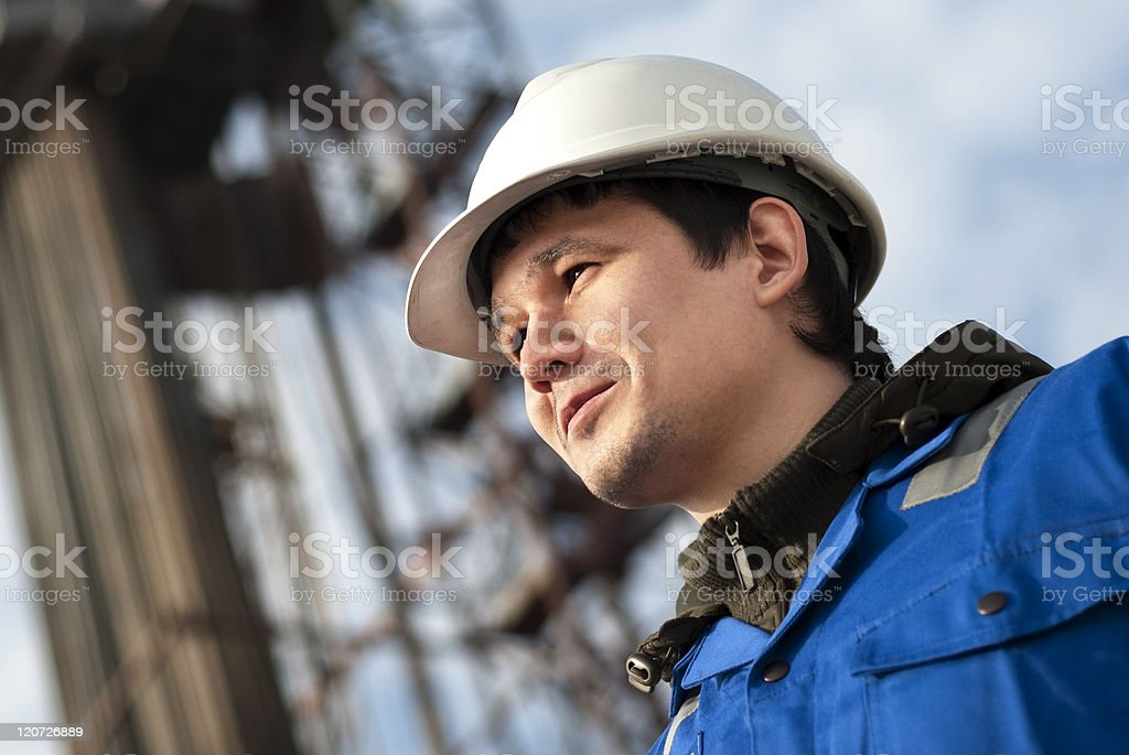 Proper well-site engineer royalty-free stock photo