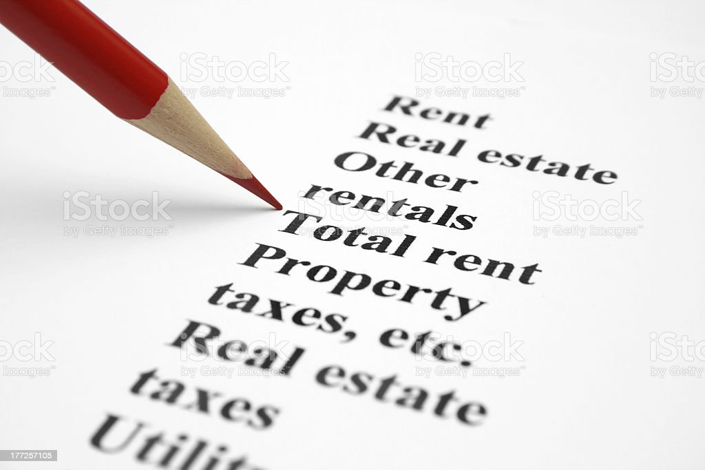 Property and taxes royalty-free stock photo