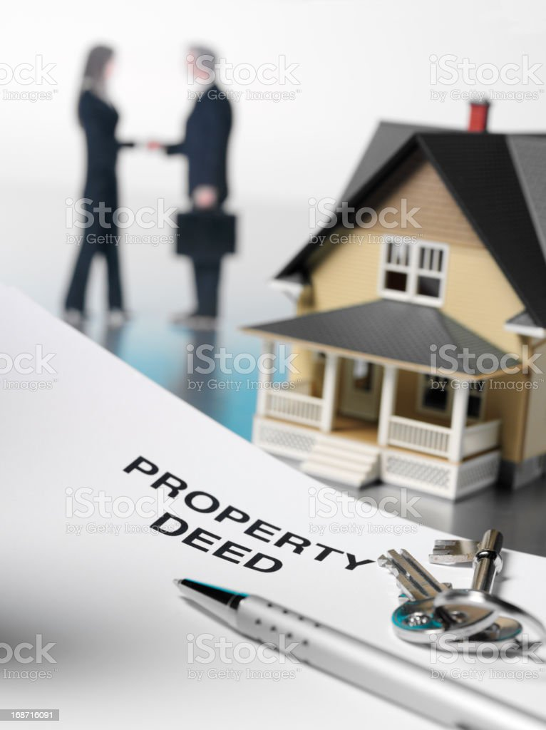 Property Deed and House stock photo