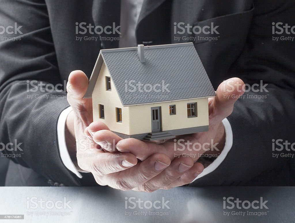 property for sale by real estate agent royalty-free stock photo