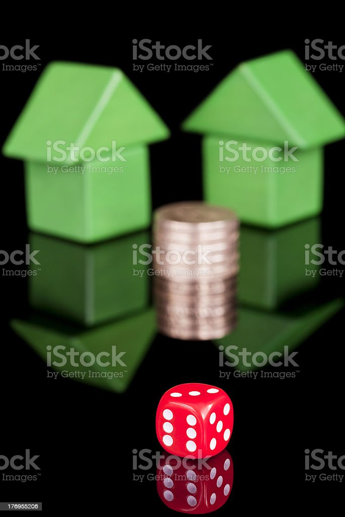 Property Gamble stock photo