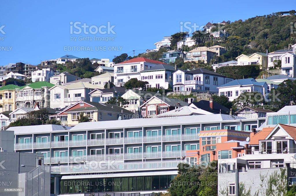 Property in Wellington - New Zealand stock photo