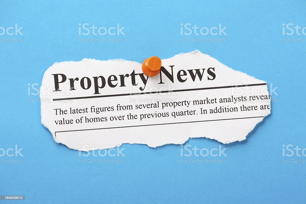 Property Newspaper Clipping stock photo