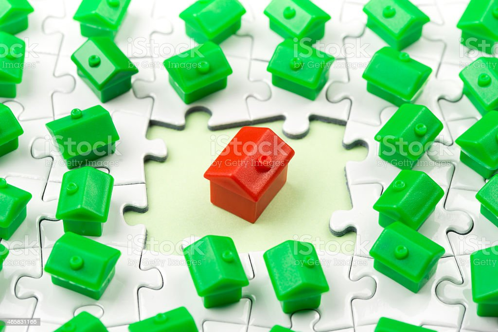 Property & real estate market game stock photo