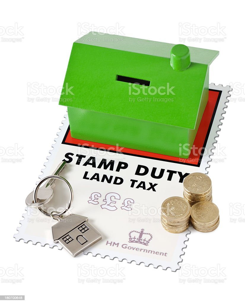 Property Stamp Duty UK stock photo