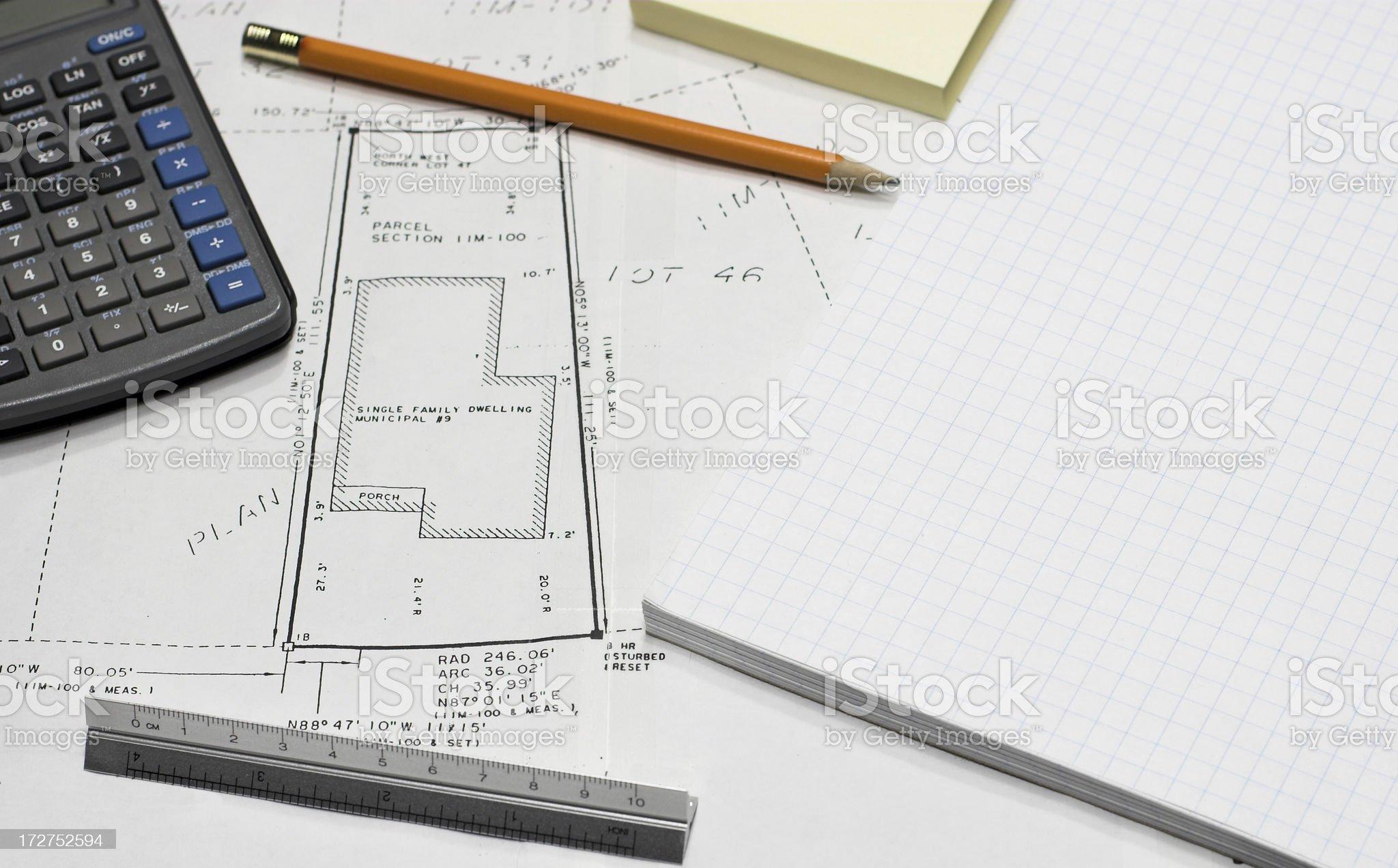 Property Survey royalty-free stock photo