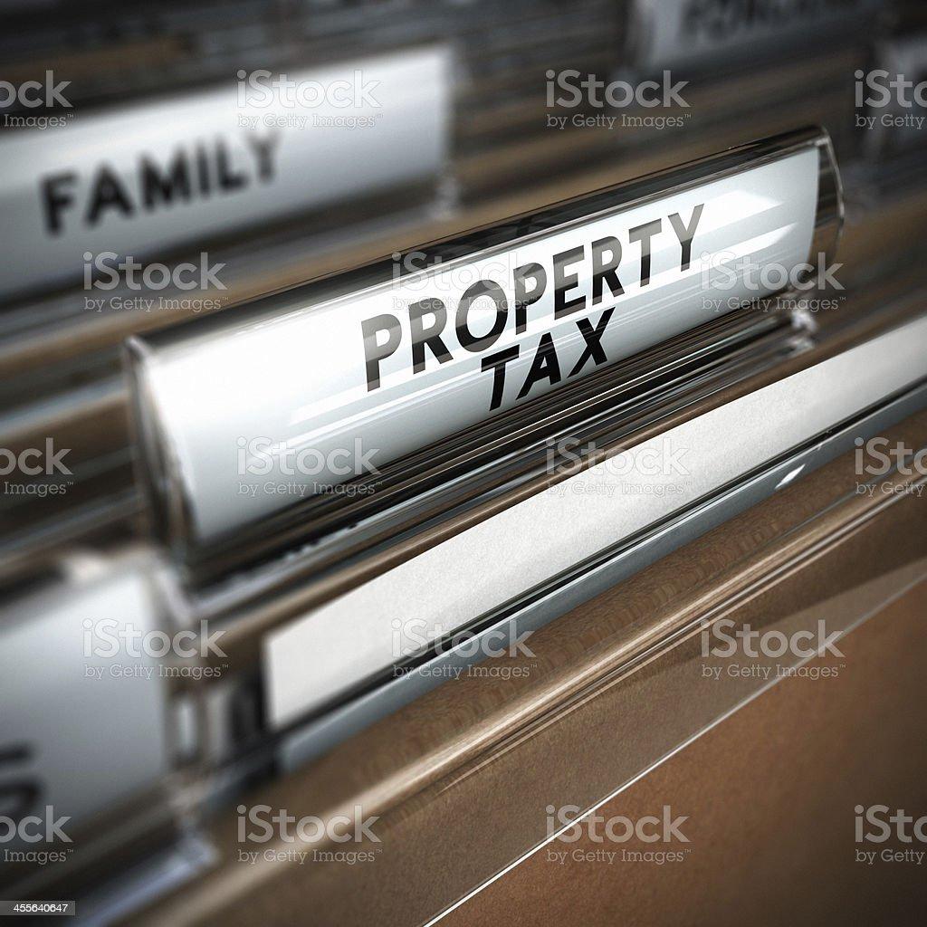 Property Tax royalty-free stock photo