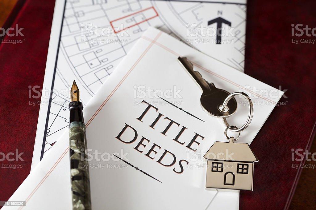 Property Title Deeds stock photo