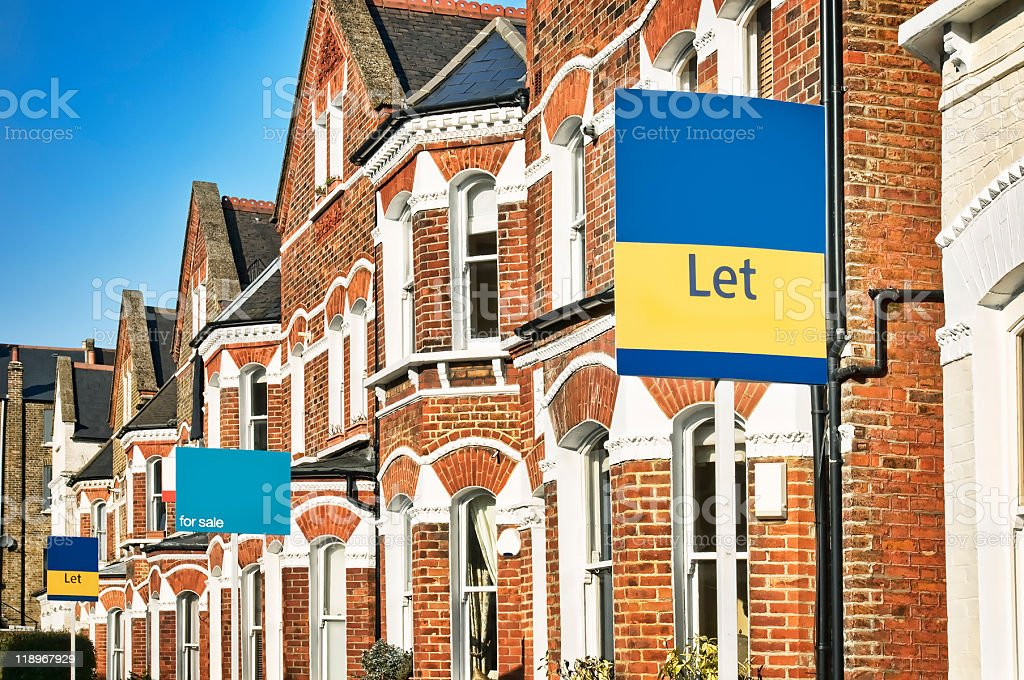Property To Let, London. stock photo