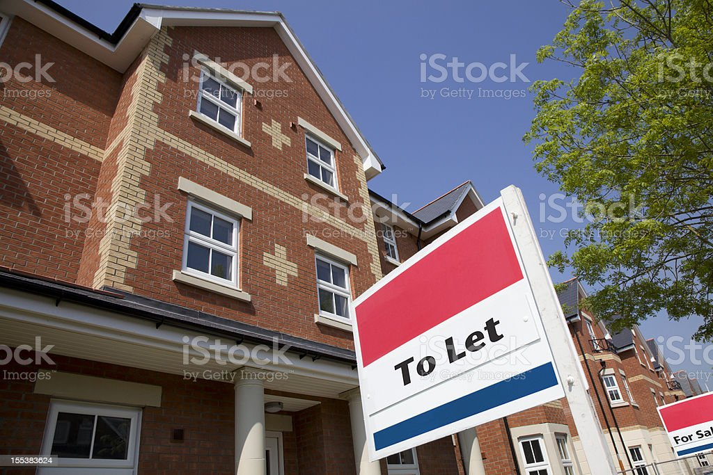 Property to Let royalty-free stock photo