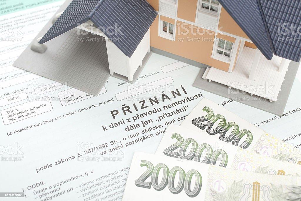 Property transfer tax form royalty-free stock photo