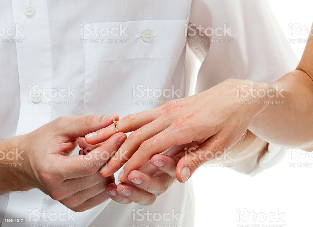 Proposal of marriage royalty-free stock photo
