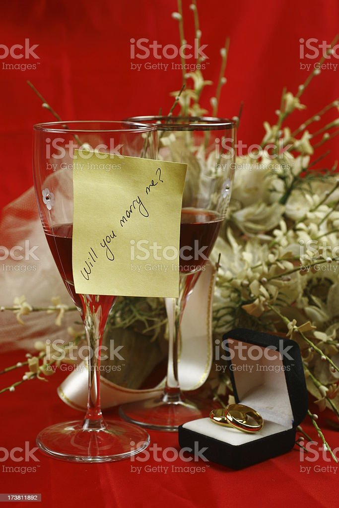 proposal of marriage stock photo