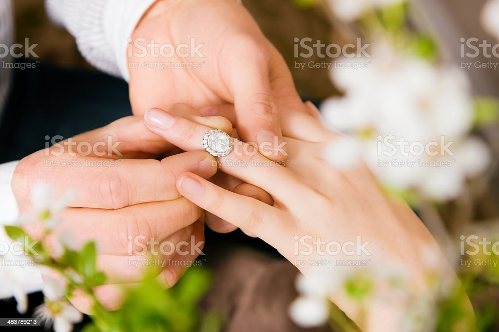 Proposal to marry stock photo