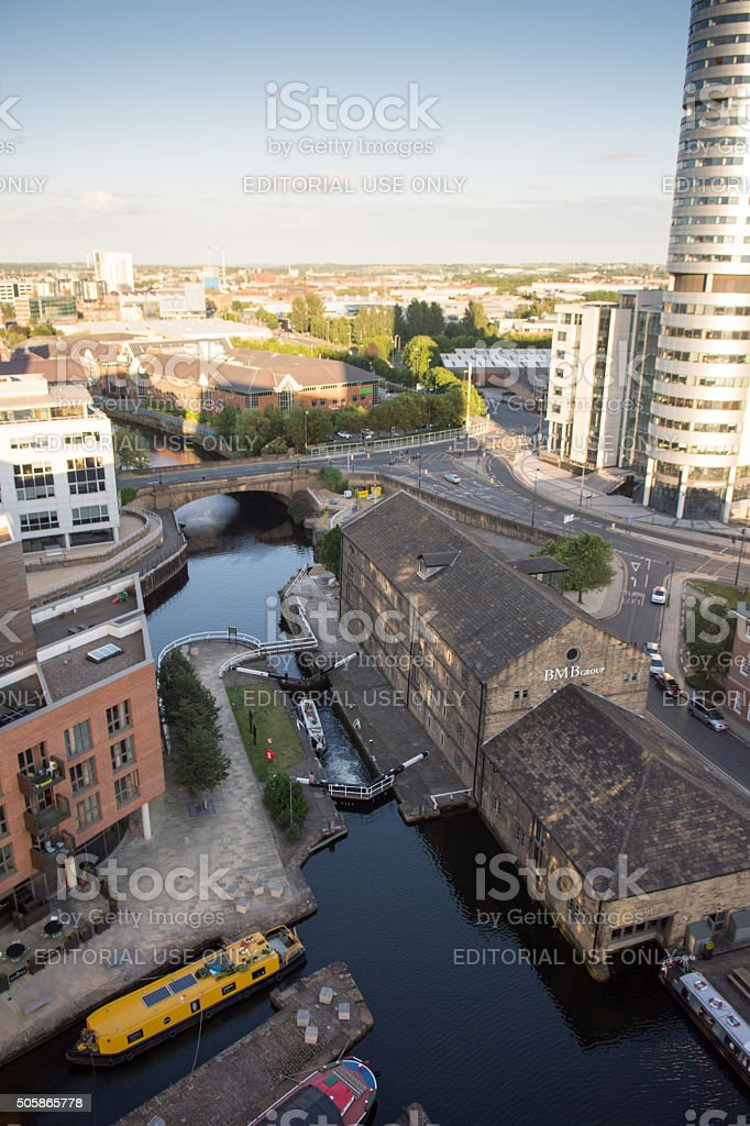 Proposed site of Leeds High Speed 2 (HS2) railway station stock photo