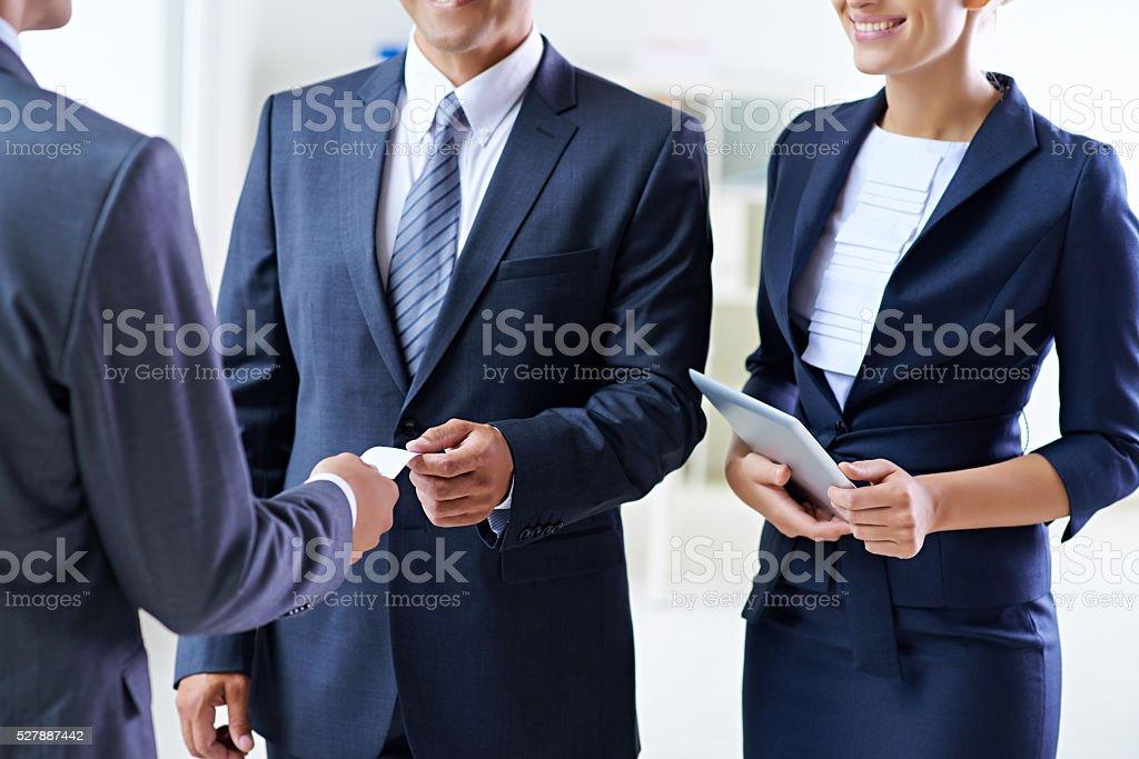 Proposing collaboration stock photo