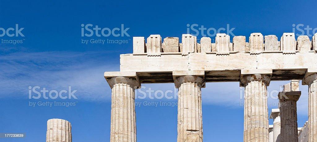 Propylaea of the Athenian Acropolis royalty-free stock photo
