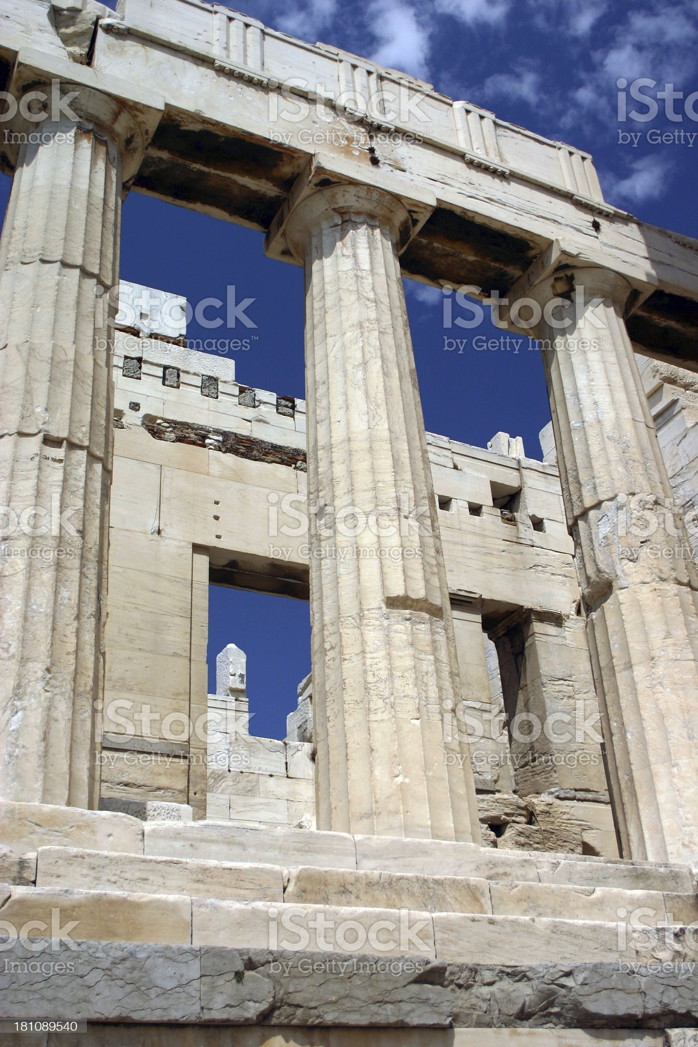 Propyleans at Acropolis royalty-free stock photo