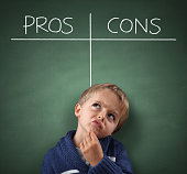 Pros and Cons on a blackboard