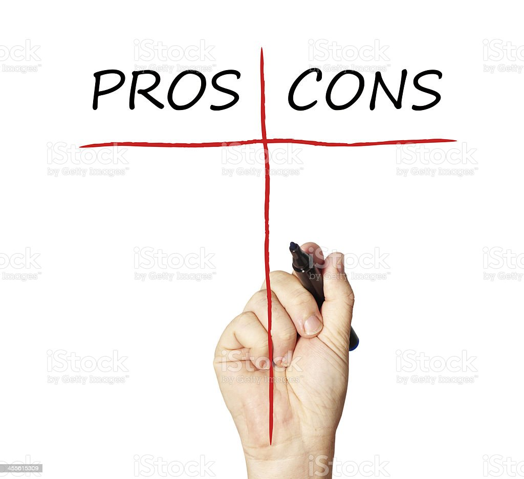 Pros and Cons stock photo