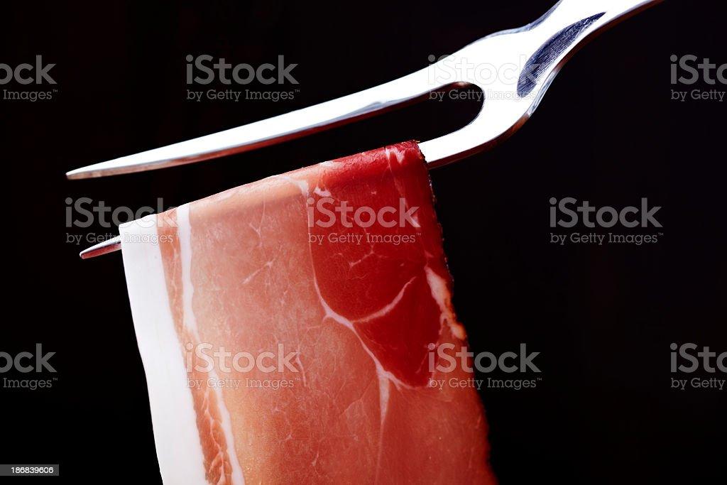 Prosciutto ham royalty-free stock photo