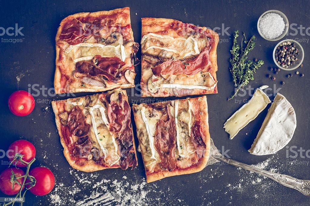 Prosciutto Pizza stock photo