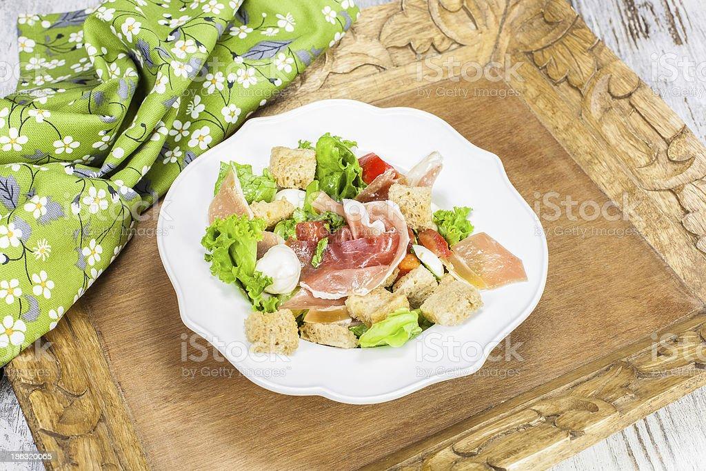 Prosciutto salad royalty-free stock photo