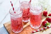 Prosecco Bellini Cocktail in the Summer