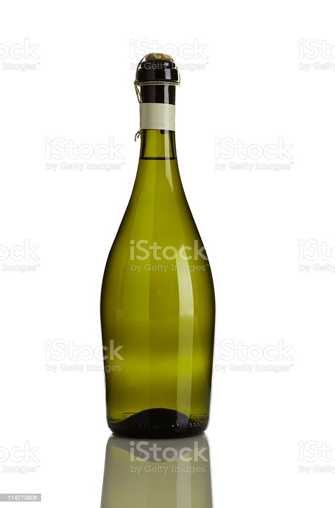 prosecco bottle isolated stock photo