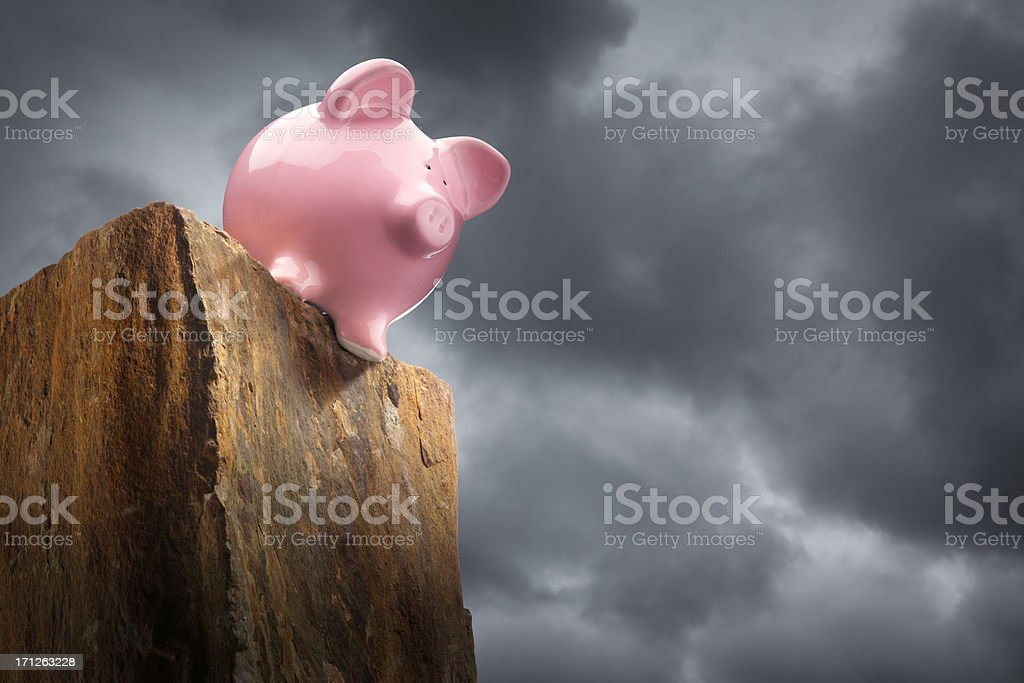 Fiscal Cliif royalty-free stock photo