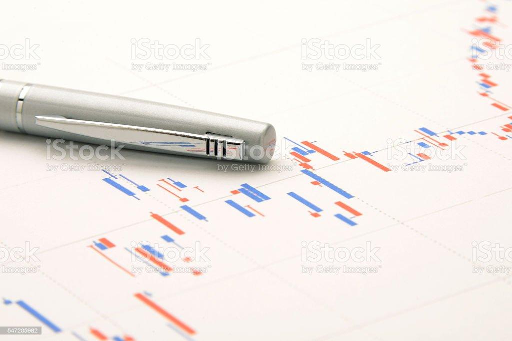 Prospect of stock price stock photo
