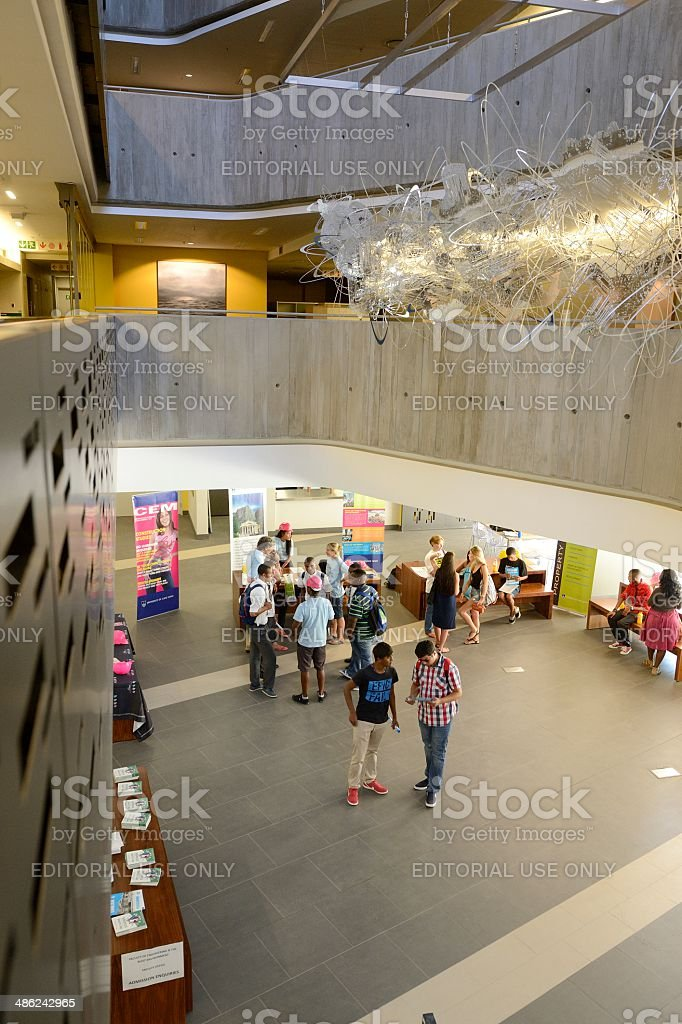Prospective students at the University of Cape Town open day stock photo