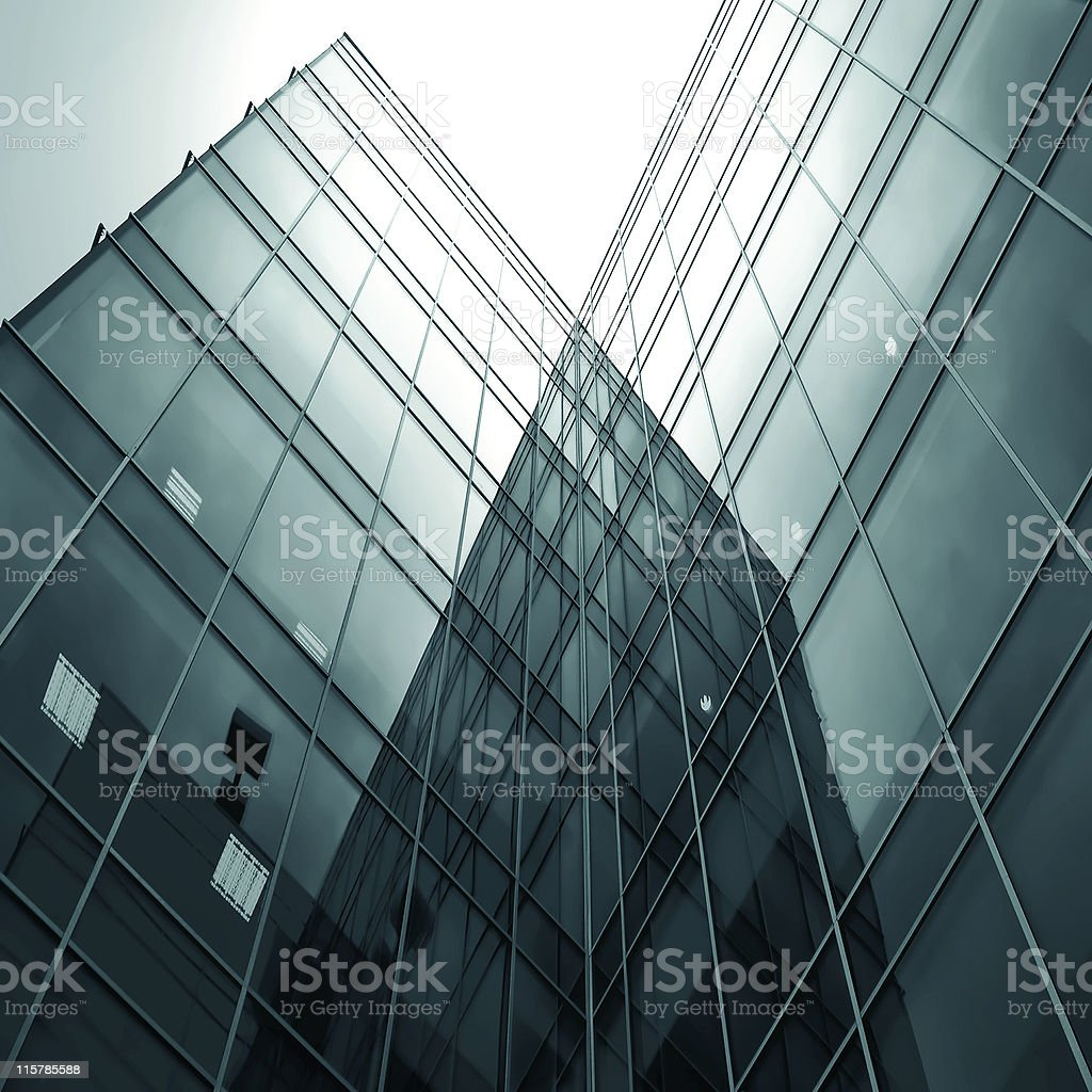 prospective view to new modern building skyscrapers royalty-free stock photo