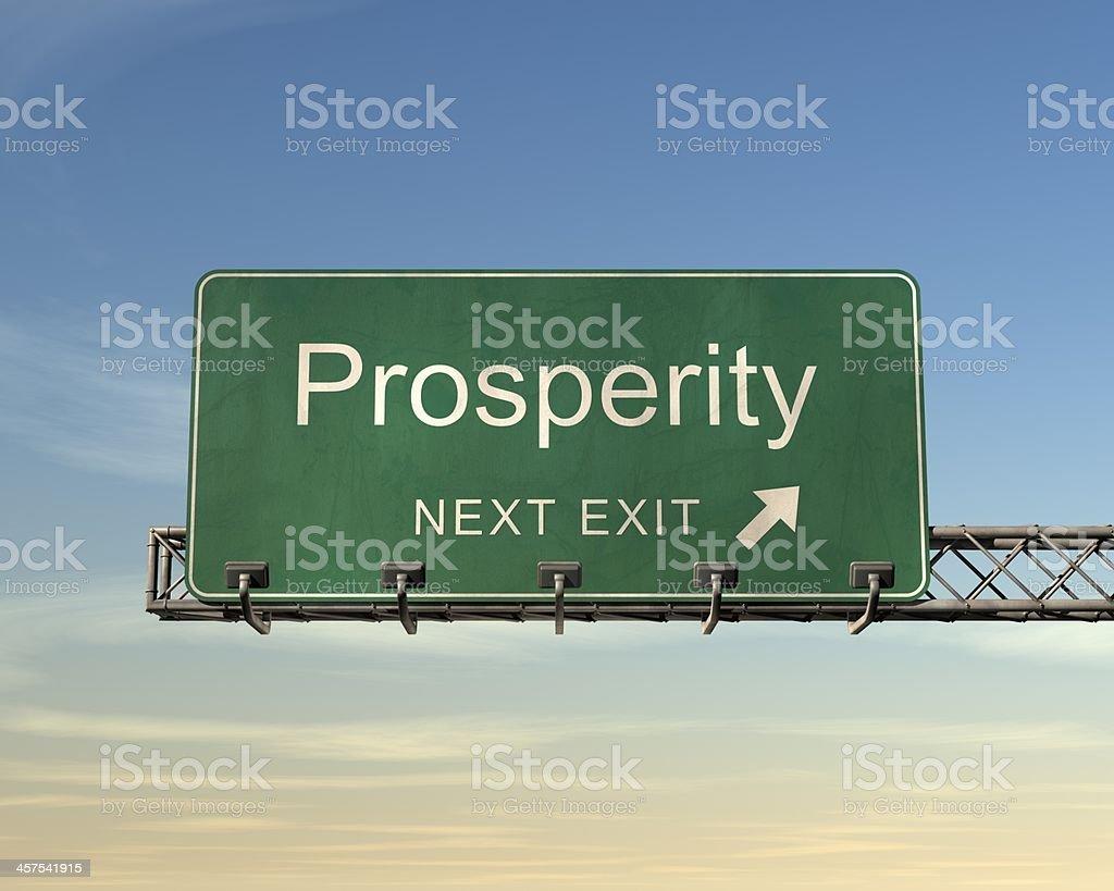 プロスペリティの道路標識 ロイヤリティフリーストックフォト