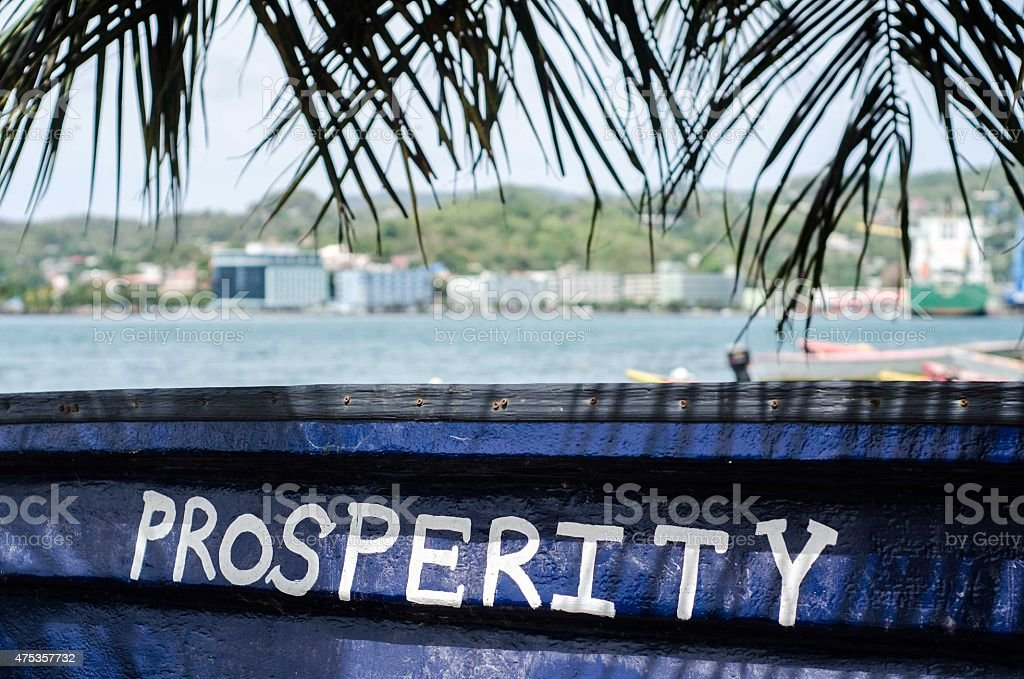 prosperity spelled out concept stock photo