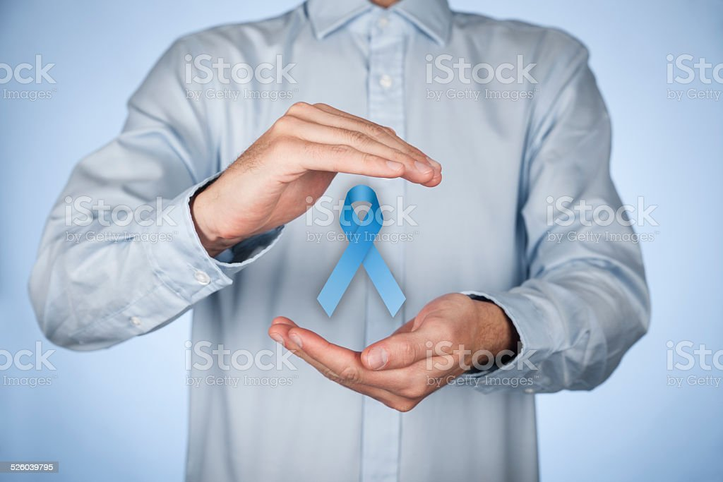 Prostate cancer awareness stock photo