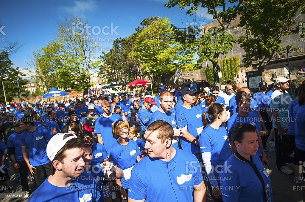 Prostate Cancer Canada 2012 Father's Day Walk / Run stock photo