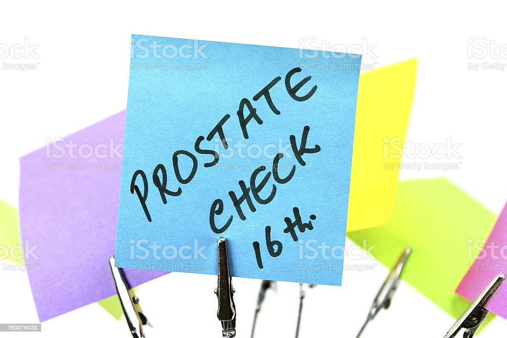 Prostate Cancer Check royalty-free stock photo