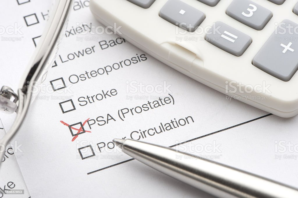 Prostate checked on a medical test royalty-free stock photo