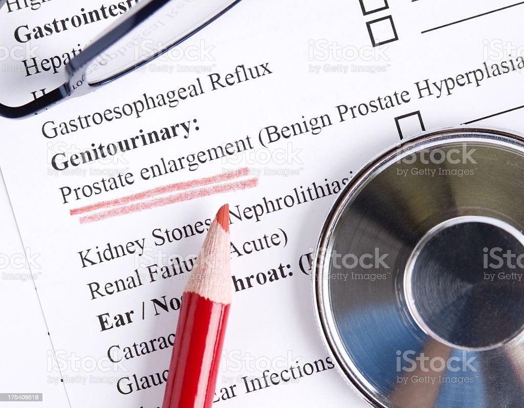 Prostate enlargement stock photo