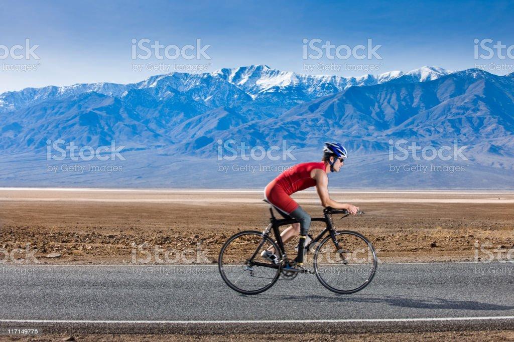 Prosthetic Cyclist royalty-free stock photo