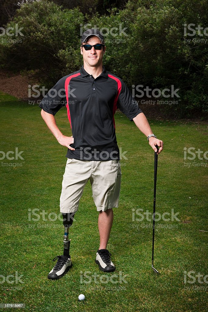 Prosthetic Golfer royalty-free stock photo