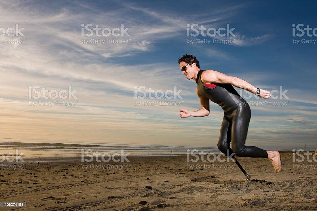 Prosthetic Leg stock photo