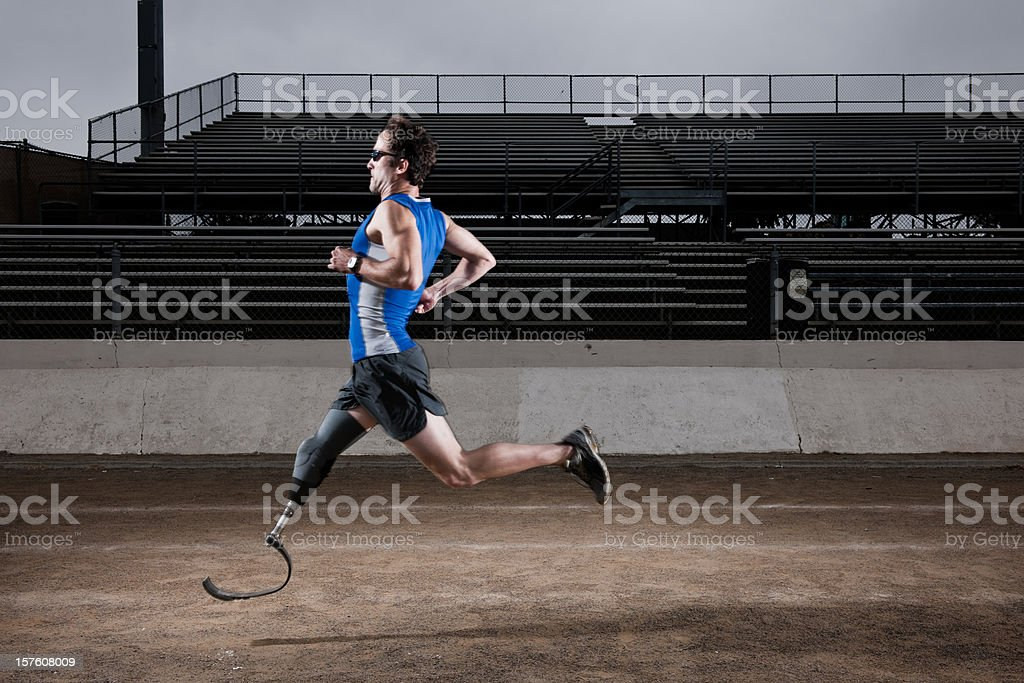 Prosthetic Racer stock photo