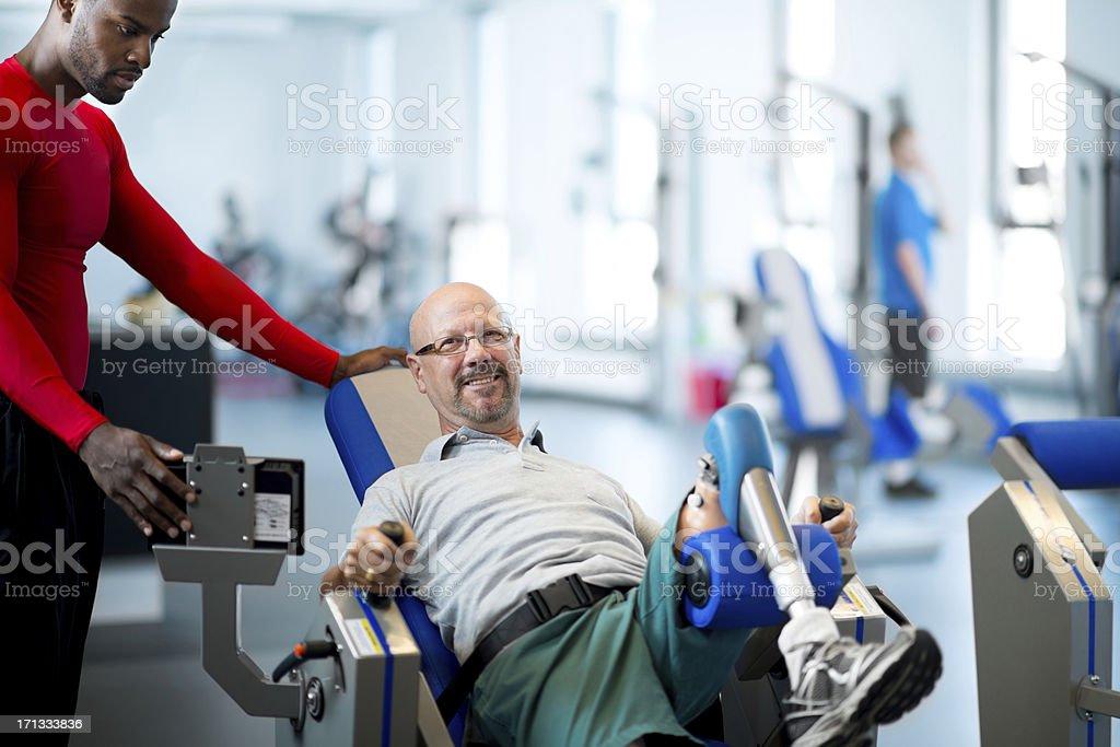 Prosthetic workout stock photo