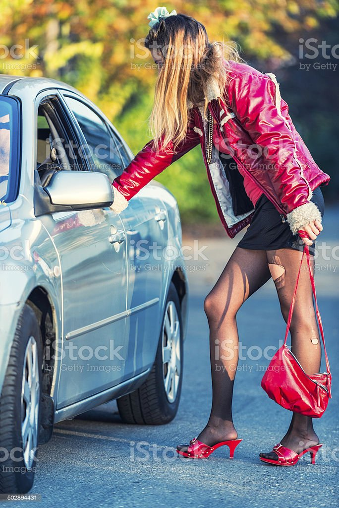 Prostitute stock photo