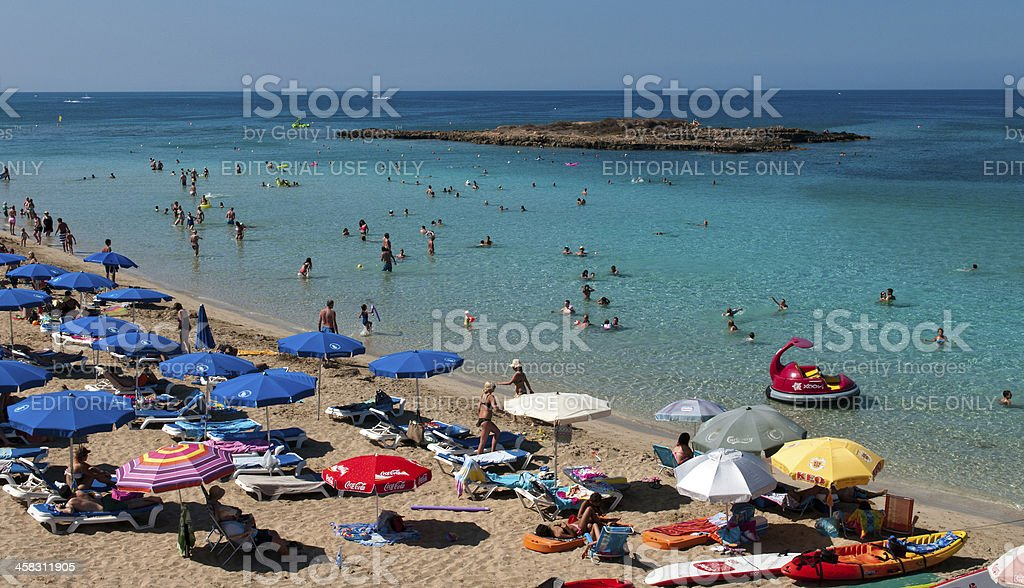 Protaras beach ,   Cyprus stock photo