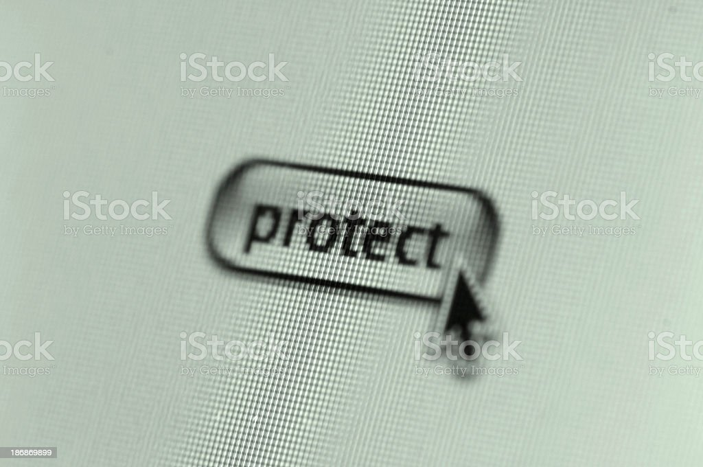 protect button royalty-free stock photo